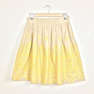 Anthro Tiny Sunstitch Pocket Skirt